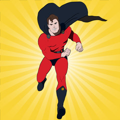 Vector Superhero Running