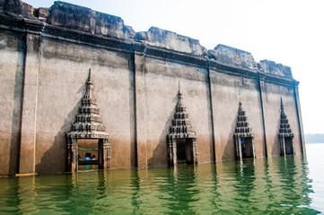 Underwater Temple, SangkhlaBuri, Kanchanaburi, Thailand