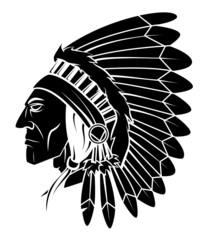 Apache Head Vector Illustration