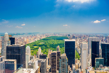 Aerial Central park view