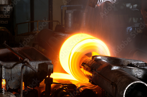 Leinwanddruck Bild Hot Steel Roll