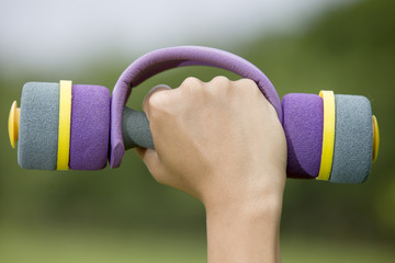 Woman's Hand With Dumbbell
