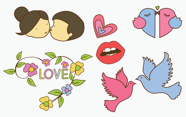 Love Symbol Object Collection
