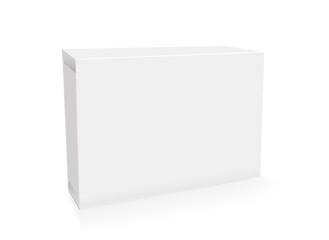 Mock up mini box blank text and logo