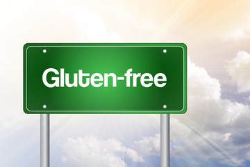 Gluten-free Green Road Sign, Business Concept