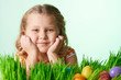 Cute girl at Easter