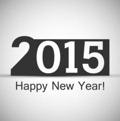 Happy New Year 2015 gray stylish colorful design