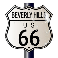 Beverly Hills Route 66 Sign
