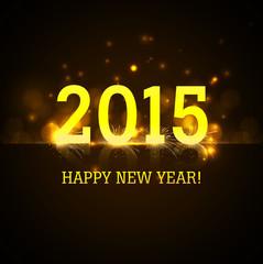 Vector Celebration shiny for reflection 2015 new year holiday ba