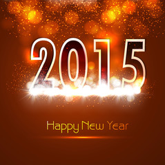 Beautiful Happy new year 2015 bright colorful celebration vector
