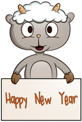 Little Sheep Happy New Year Banner