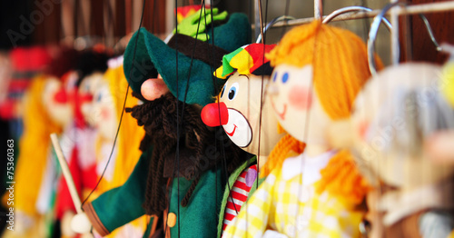 Leinwandbild Motiv Marionetten