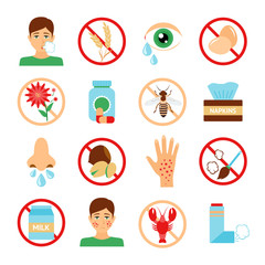 Allergy Icons Set