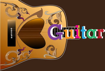 guitar art and line Thai