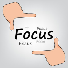 Focus Hands grey background