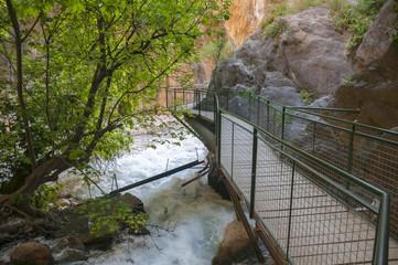 Boardwalk at Saklikent Gorge canyon (Turkey)