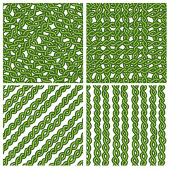 Chain green ivy pattern in four style