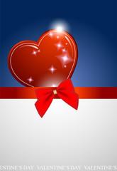 Valentine's blue background