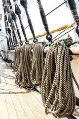 Details on deck of an old ship