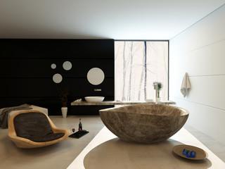 Contemporary luxury bathroom interior