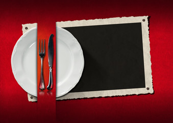 Restaurant Menu with Photo Frame