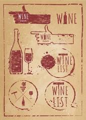 Vintage wine set