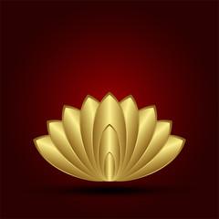 abstract gold lotus