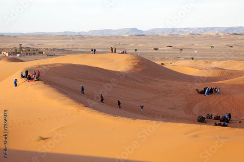 In de dag Oranje eclat Journey into the desert