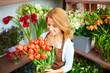 Obrazy na płótnie, fototapety, zdjęcia, fotoobrazy drukowane : Attractive florist