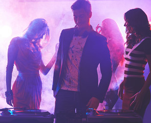 Deejay and dancers