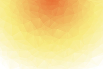 Colors white and orange triangular background