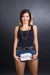 Funny rocker girl