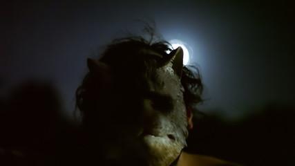 Killer catface knife night moon scary