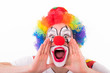 clown macht eine durchsage - 75369301