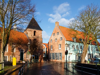 Greetsiel, typical houses of the Village