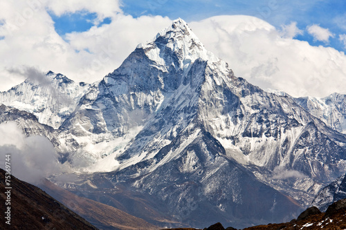 Foto op Canvas Nepal Ama Dablam mount in Sagarmatha National park, Nepal