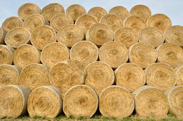 rolls of straw