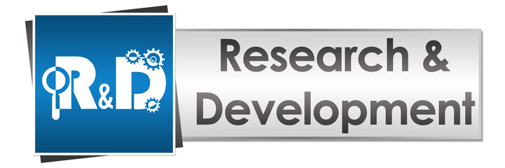 R And D - Research And Development Button Style