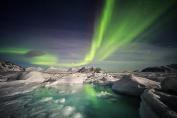 Unusual Arctic winter landscape - Spitsbergen, Svalbard