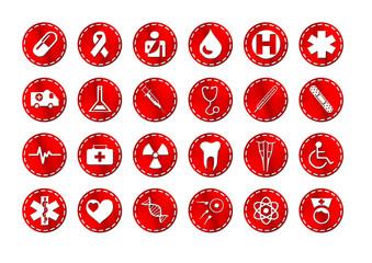 Medizin Buttons - Icons - Logos