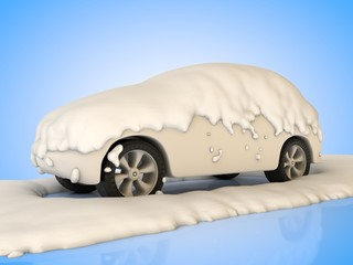 Fahrzeug im Schnee