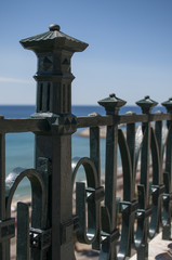 Iron balcony over sea