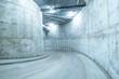 Spiral road to the underground mall garage. - 75373303