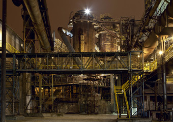 Iron works at night
