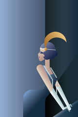 Roaring 20s elegant poster with flappers