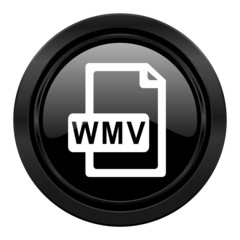 wmv file black icon