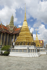 Golden Chedi Pagoda at Grand Palace Bangkok Thailand