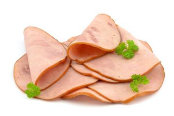sliced ham sausage