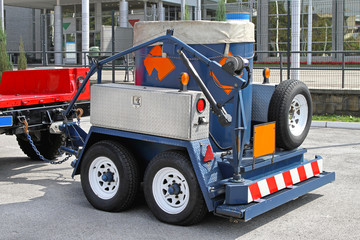 Bomb disposal trailer