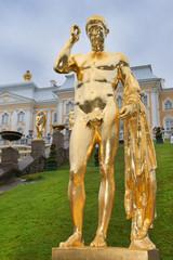 Grand cascade in Pertergof, Saint-Petersburg